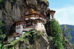Photo-of-ornate-architecture-inside-a-Bhutan-temple